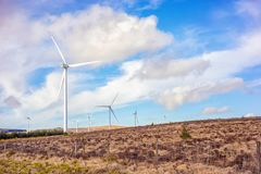Landscape with windmills in a county Cork Stock Photos