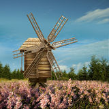 Landscape with windmills Royalty Free Stock Photo