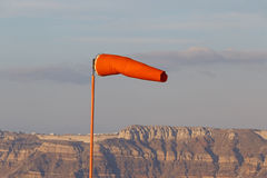Landscape with windsock Royalty Free Stock Photo