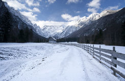 Landscape in winter Stock Photos