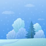 Landscape, winter forest Royalty Free Stock Photography