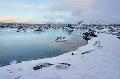 A landscape winter image taken in Iceland. A landscape winter image taken in Iceland, near the Blue Lagoon, a popular tourists attraction Stock Photography