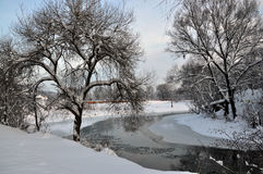 Landscape with winter river_2 Stock Image