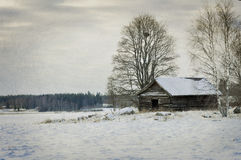 Landscape in winter Stock Photography