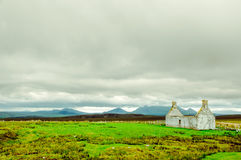 Landscape wirh house ruin in the highlands of Scotland Royalty Free Stock Image