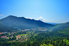 Landscape With Baile Tunsad Resort, Transylvania, Harghita County, Romania Stock Image