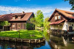 Free Landscape With Cottages In The Spreewald Area, Germany Stock Photo - 115651930
