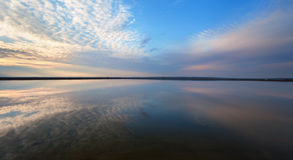 Free Landscape With Lake Reflection Clouds. Beautiful Summer Sunset Stock Image - 53888491