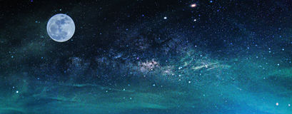 Free Landscape With Milky Way Galaxy. Night Sky With Stars And The Fu Stock Photo - 86228930