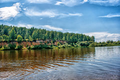 Landscape With River And Forest Stock Photo