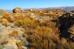 Landscape of wolfberg cracks in the Cederberg, Republic of South Stock Image