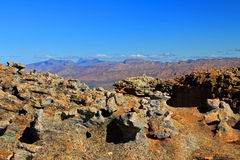 Landscape of wolfberg cracks in the Cederberg, South Africa. Royalty Free Stock Photo