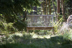 Landscape - Wood Bench Royalty Free Stock Photography