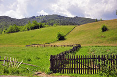 Landscape wooden fence Stock Images