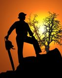 Landscape Worker Royalty Free Stock Images