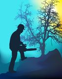 Landscape Worker Royalty Free Stock Photography