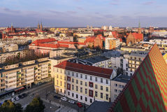 Landscape of Wrocław city during sunset, Poland Stock Photography