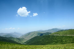 Landscape of Wutaishan. The landscape of east mountain in Wutaishan in Shanxi province in China Royalty Free Stock Photos