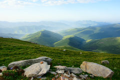 Landscape of Wutaishan. The landscape of north mountain in Wutaishan in Shanxi province in China Stock Photo