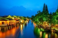 Landscape of wuzhen, a historic scenic town royalty free stock photography