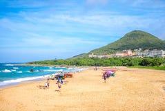 Landscape of xiaowan beach at kenting, taiwan Royalty Free Stock Image
