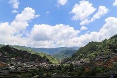 The landscape in xijiang miao village , guizhou,china Stock Photography