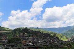 The landscape in xijiang miao village , guizhou,china Stock Images