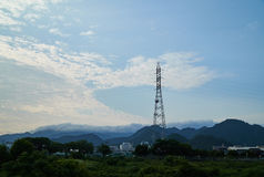 Landscape of Yamaguchi City. The view from the riverside Royalty Free Stock Images