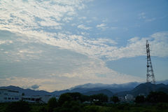 Landscape of Yamaguchi City. The view from the riverside Royalty Free Stock Photography