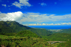 Landscape of Yangming mountain in Taipei, Taiwan Stock Images