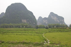 Landscape in Yangshuo, China Stock Image