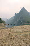 Landscape in Yangshuo Guilin, China Royalty Free Stock Photo
