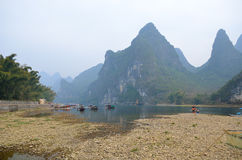 Landscape in Yangshuo Guilin, China Stock Photography
