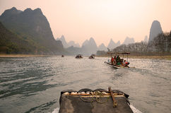 Landscape in Yangshuo Guilin, China Royalty Free Stock Photos