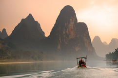 Landscape in Yangshuo Guilin, China Stock Photos