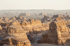 Landscape of Yardang landform Royalty Free Stock Image