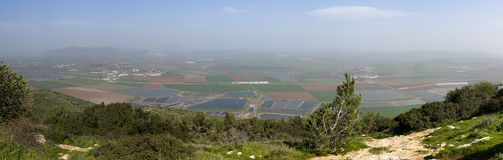 Landscape Yizrael valley Royalty Free Stock Photography