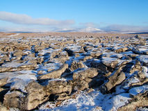 Landscape in yorkshire Dales. Winter landscape in yorkshire Dales national park Royalty Free Stock Images