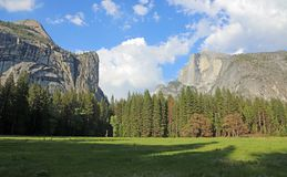 Landscape with Half Dome. Landscape in Yosemite National Park, California Royalty Free Stock Photo