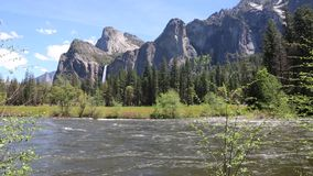 Merced River stock footage