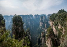 Landscape of Yuanjiajie, Zhangjiajie National Forest Park, Royalty Free Stock Photography
