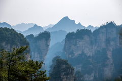 Landscape of Yuanjiajie, Zhangjiajie National Forest Park, Royalty Free Stock Images