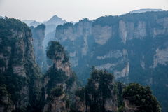 Landscape of Yuanjiajie, Zhangjiajie National Forest Park, Stock Image