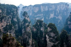 Landscape of Yuanjiajie, Zhangjiajie National Forest Park, Royalty Free Stock Image