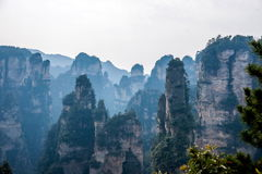 Landscape of Yuanjiajie, Zhangjiajie National Forest Park, Royalty Free Stock Photos