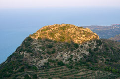 Landscape of Zakynthos mountains from Skopos hill, Greece Royalty Free Stock Images
