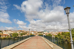 Landscape of Zamora seen from an old bridge Stock Image