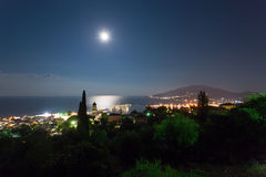 Landscape of zante island at night Royalty Free Stock Photos