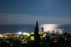 Landscape of zante island at night Stock Images