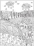 Landscape zentangle Stock Images